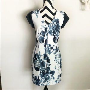 NWT Banana Republic✨blue floral short sleeve dress